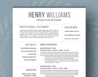 professional reference page template