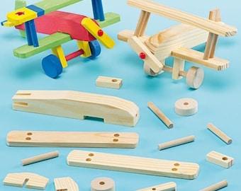 Wooden Aeroplane Toy Kits