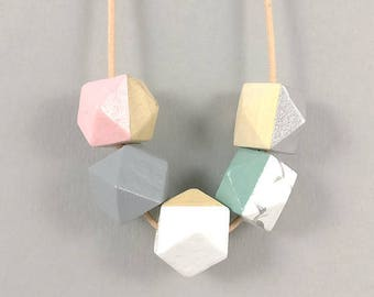 Geometric Necklace | Marble Necklace | Statement Necklace | Gift for her | Geometric Jewellery | Beaded necklace | Minimalist necklace | Geo