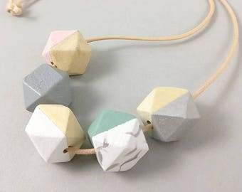Marble Necklace | Geometric Necklace | Statement Necklace | Gift for her | Geometric Jewellery | Beaded necklace | Minimalist necklace | Geo