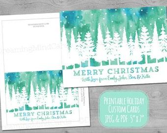 digital holiday card etsy