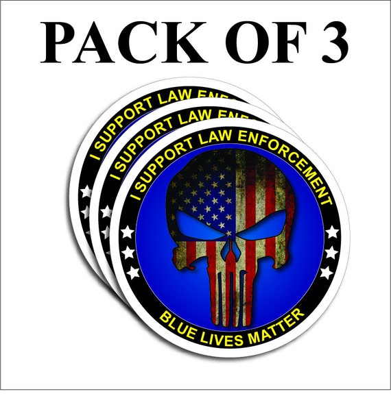 PACK OF 12 Blue Lives Matter American Flag Police Car or Truck Decal Sticker BLM