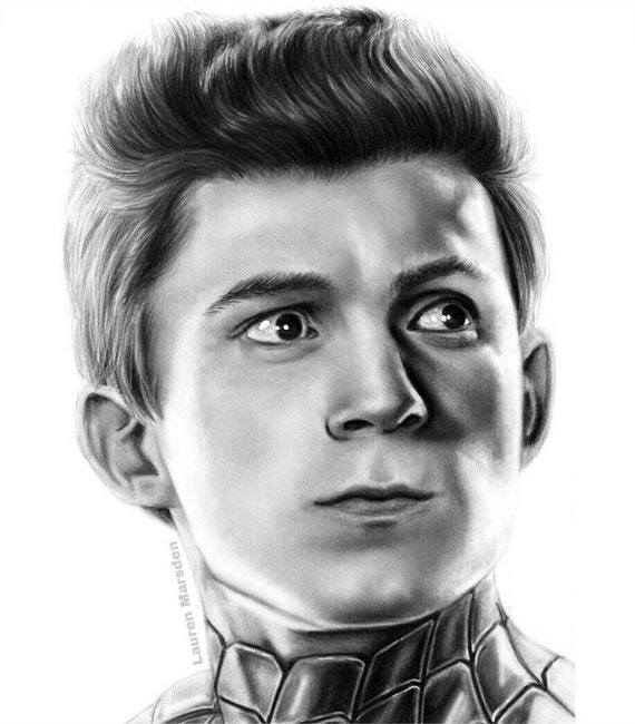 Spider Man Peter Parker Tom Holland Avengers Infinity War A5 Etsy