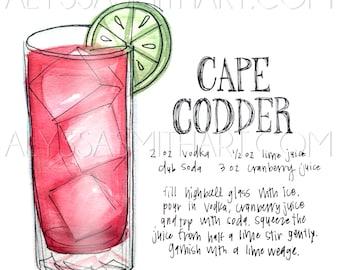 Cape Codder Drink Print