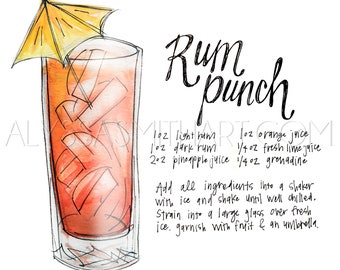 Rum Punch Drink Print