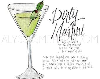 Martini Drink Print