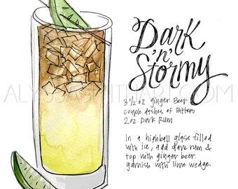 Dark & Stormy Drink Print