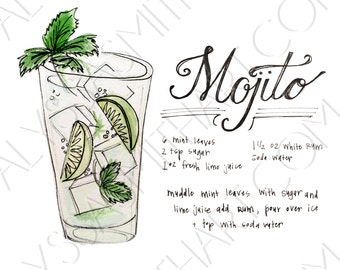 Mojito Drink Print