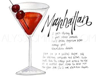 Manhattan Drink Print