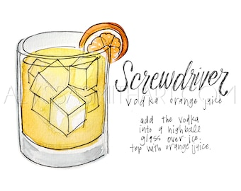 Screwdriver Drink Print