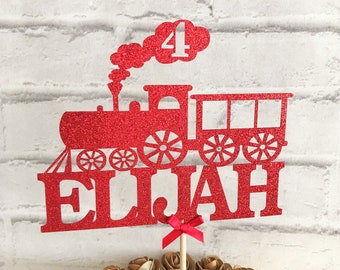 ALL TRAIN LOVERS PERSONALISED TOY TRAIN WORD ART PRINT FOR HIM OR HER