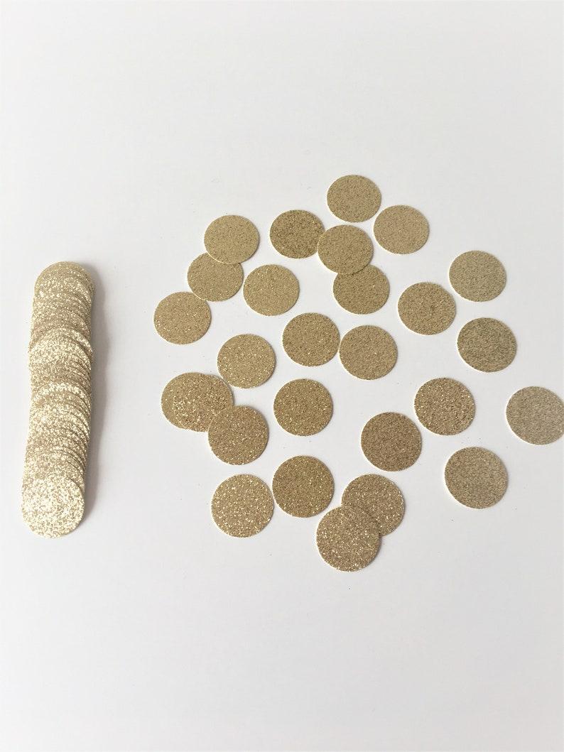 Glitter Confetti Circles. Birthday Table Scatter Decor. Gold