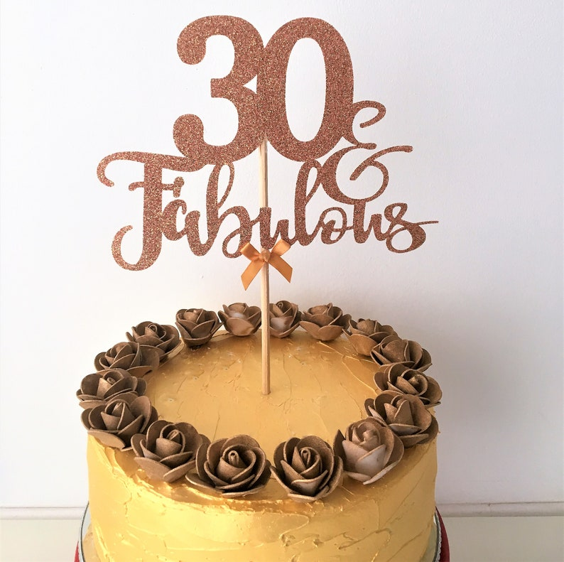 Wondrous Thirty Fabulous Cake Topper Thirtieth Birthday 30 Thirty Etsy Personalised Birthday Cards Veneteletsinfo