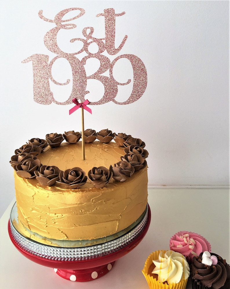 Est 1939 Cake Topper Established Cake Centrepiece 80th