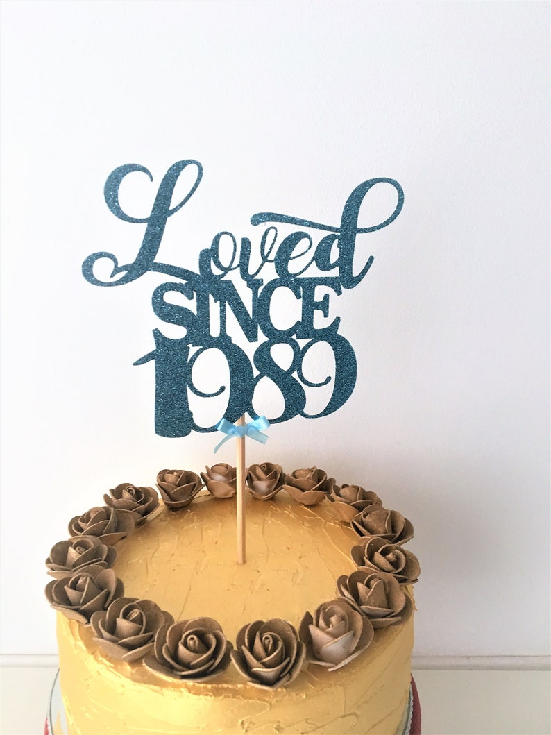 Prime Loved Since 1989 Cake Topper 30Th Birthday Centrepiece 30 Etsy Funny Birthday Cards Online Barepcheapnameinfo