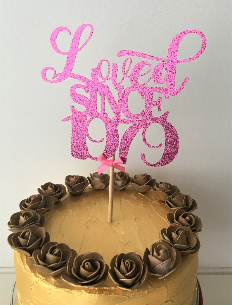 Outstanding Loved Since 1979 Cake Topper 40Th Birthday Topper 40 Years Etsy Funny Birthday Cards Online Kookostrdamsfinfo