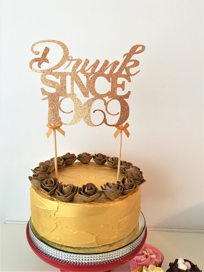 Marvelous Drunk Since 1969 50Th Birthday Cake Topper 50 Years Old Etsy Funny Birthday Cards Online Alyptdamsfinfo