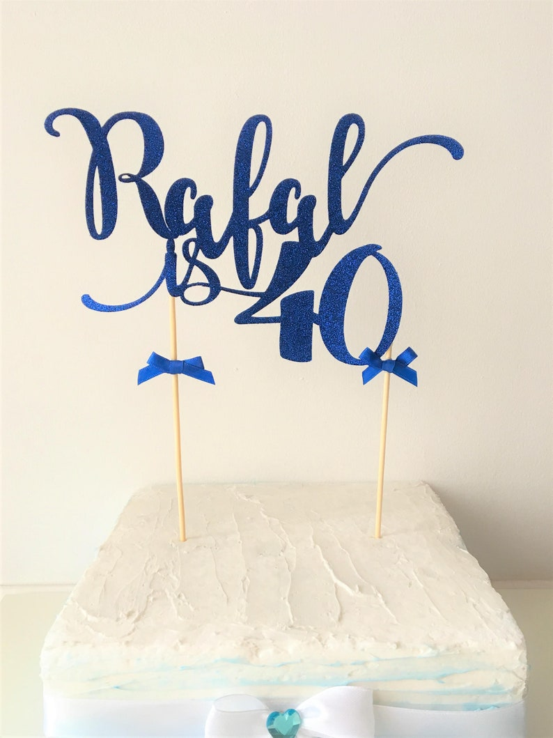 Name Cake Topper 40th Birthday Custom Colour Fortieth