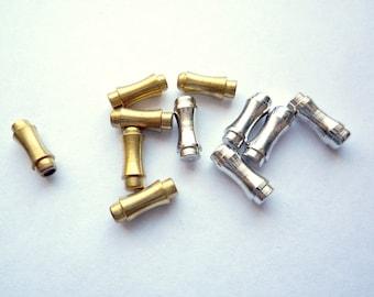 10 VINTAGE  Brass FANCY STICK PIN END CAPS