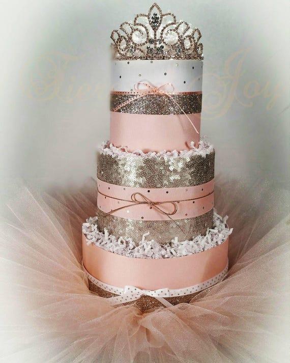 Princess Peach Nappy Cake Baby Princess Dress Casual Wedding Etsy