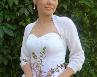 White  Bridal Bolero Shrug,Wedding Bolero Shrug