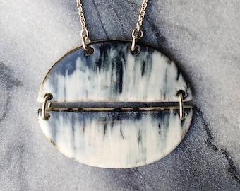 Elara Necklace - Porcelain and sterling silver