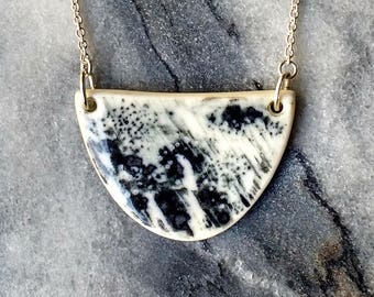 Callisto Necklace - Porcelain and sterling silver