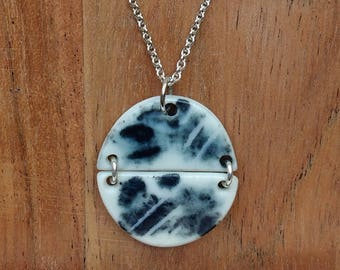 Helene Necklace - Porcelain and sterling silver