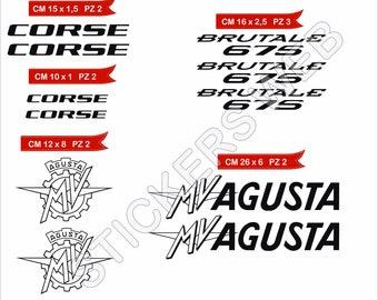 Cod.0627 Pimastickerslab Pegatinas Adhesivos MALOSSI para Motos Motocicletas