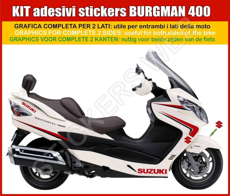 Stickers Moto Motorcycle Suzuki Burgman 400 Vinyl Decal Etsy 2008 Problems