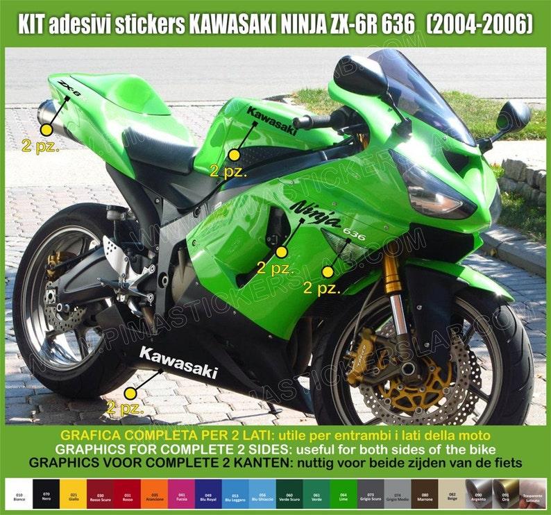 Autocollants Moto Motorcycle Kawasaki Zx 6r 636 Zx6r Etsy