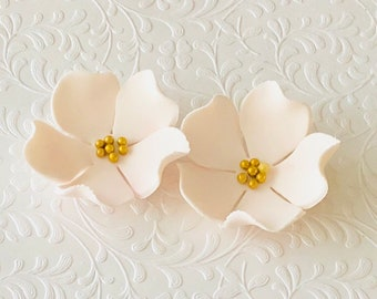 12 Large Blossom Fondant Flowers Gumpaste Edible Sugar Cake Decoration Wedding Topper