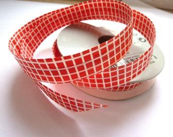 Checkered white Ikea red paper Ribbon