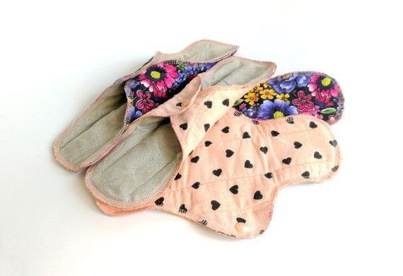 Reusable Washable Panty Liners Cotton Environment Friendly Cloth Menstrual Pads Zero Waste