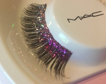 Pretty in Pink - Ombre Pink Glitter False Lashes