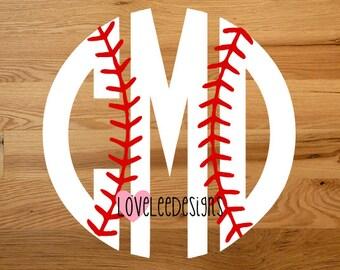 Baseball Monogram Etsy