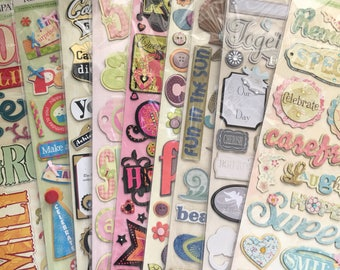 You Choose- K & Company - K and Co. Adhesive chipboard Scrapbook Planner Stickers