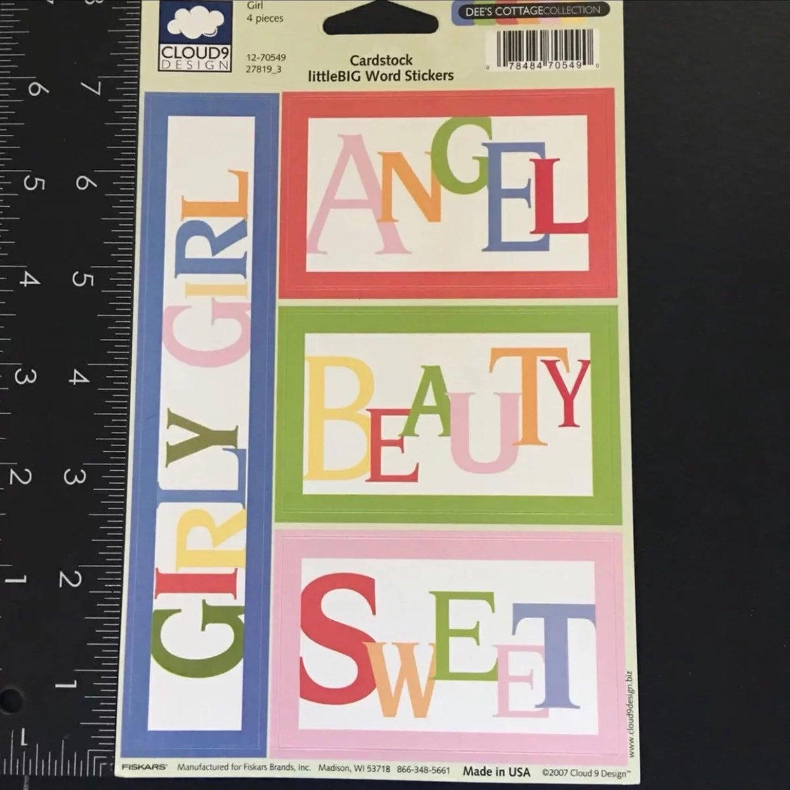 Dees Cottage Collection Girl Angel Cardstock Littlebig Word