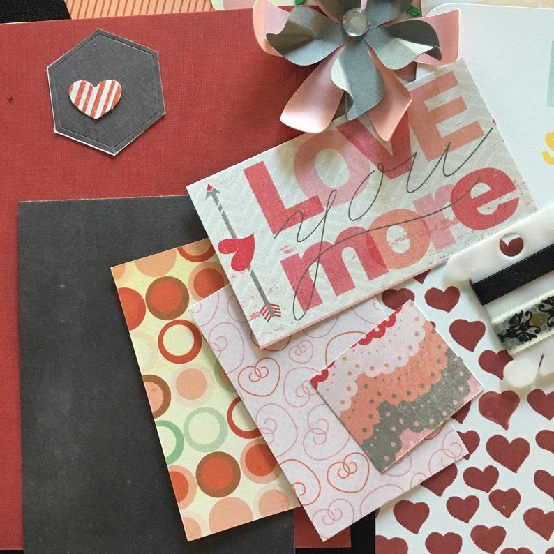 Junk Journal Kit Love Paper Craft Planner Kit Scrapbook Kit Embellishments Kit Romance Card Making Stuck on You My Minds Eye