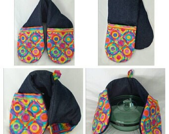 """The """"Carlee"""" Collection - Double Pot Holder: Durable enough for the Grill, Cute enough for the Kitchen and Dinning Room!"""