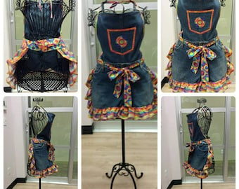 """The """"Carlee"""" Collection - Bib apron: Rugged enough for the Garden and Grill, cute enough for the Kitchen and Dinning Room!"""