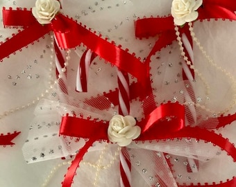 Red/White Candy Canes/Tree Decoration/Gift Topper