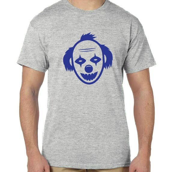Clown Face Black, White or Gray T Shirt or Black, Gray or Navy Tank Top