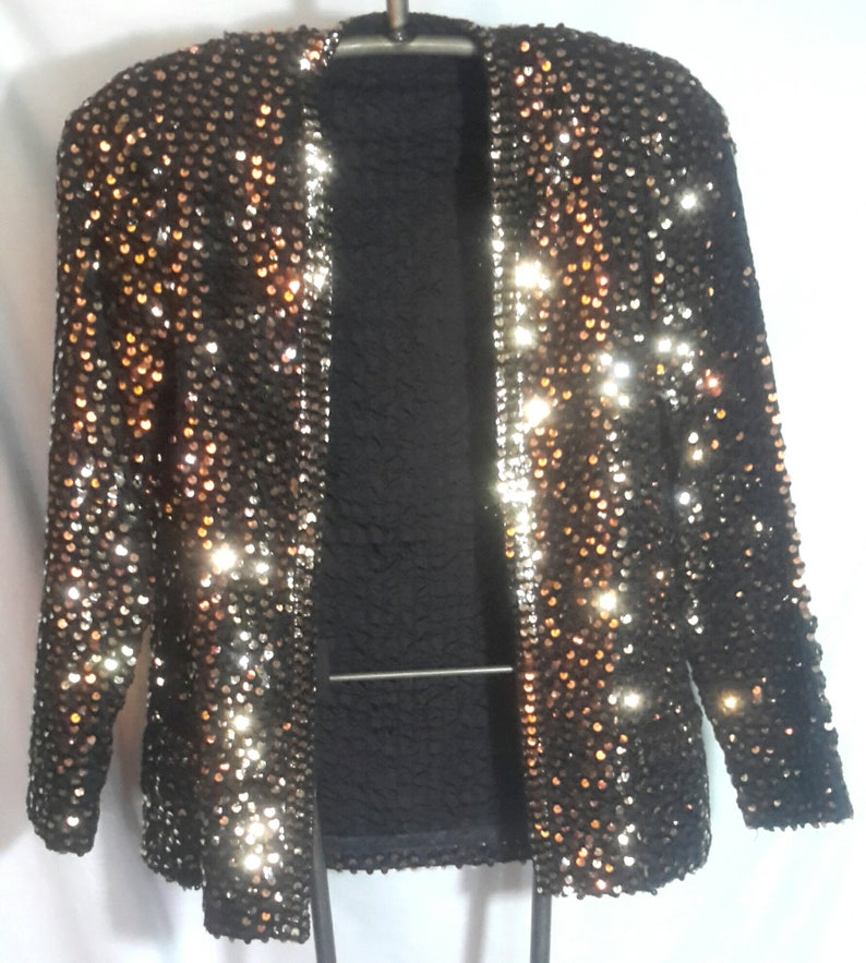size smallmed Vintage copper sequined outer coverin excellent condition