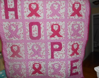 Breast Cancer throw to give you hope and keep you warm from the cold