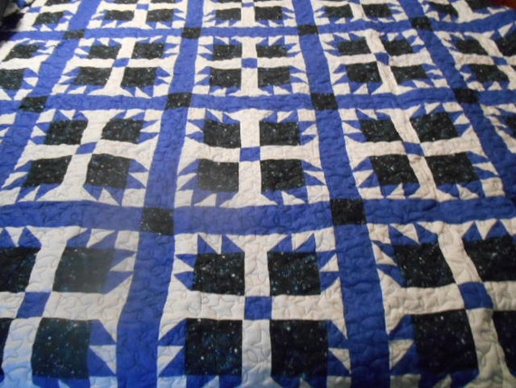Beautiful Blue Bear Paw Quilt Made To Order Etsy