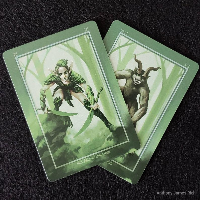 Green Dual Elf / Beast Creature Tokens Pack of 10 image 0