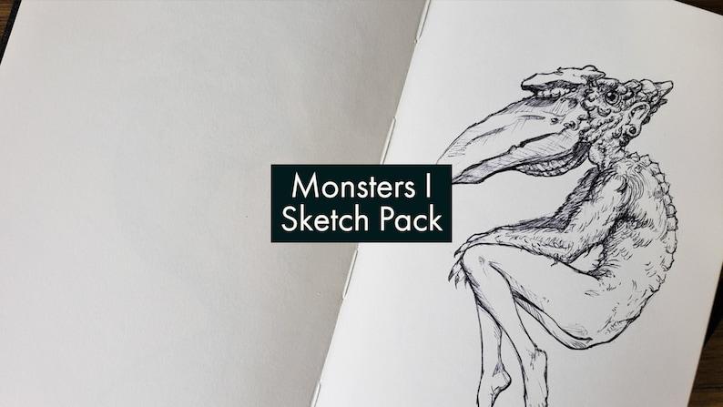 Monsters I  Digitized Sketch Pack image 0