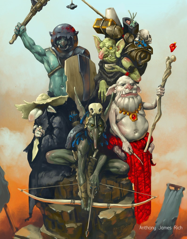 Goblin Party  Art Print image 0