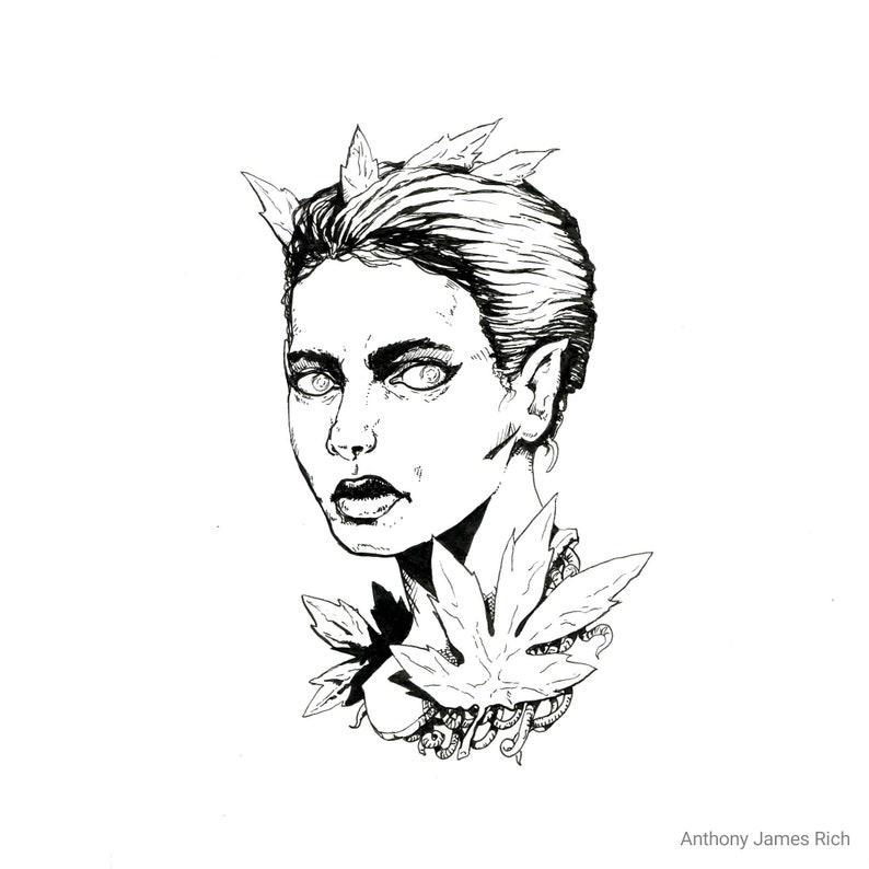 Original Surreal Graphic Ink Drawing image 0